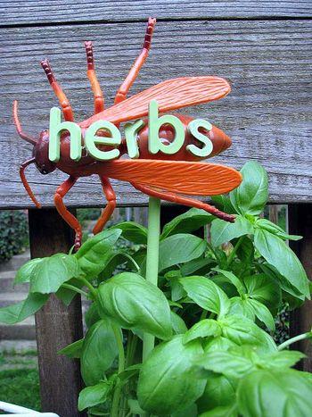 VI garden markers herbs