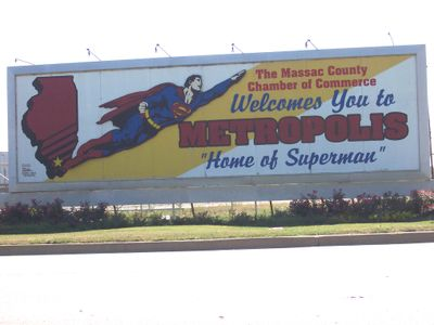 Superman billboard