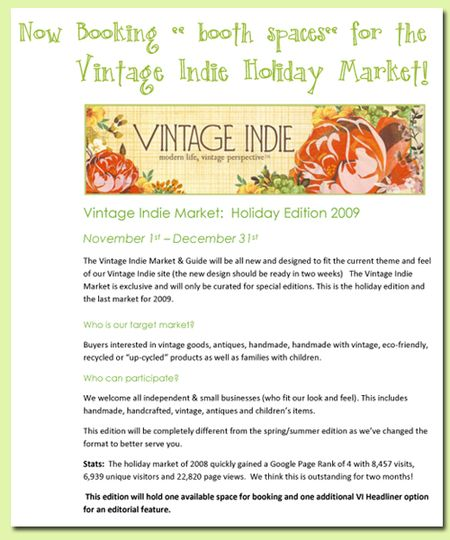 Vintage Indie Market 2009