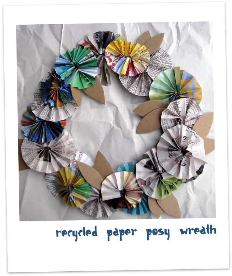 Paper wreath 3 on paper backing