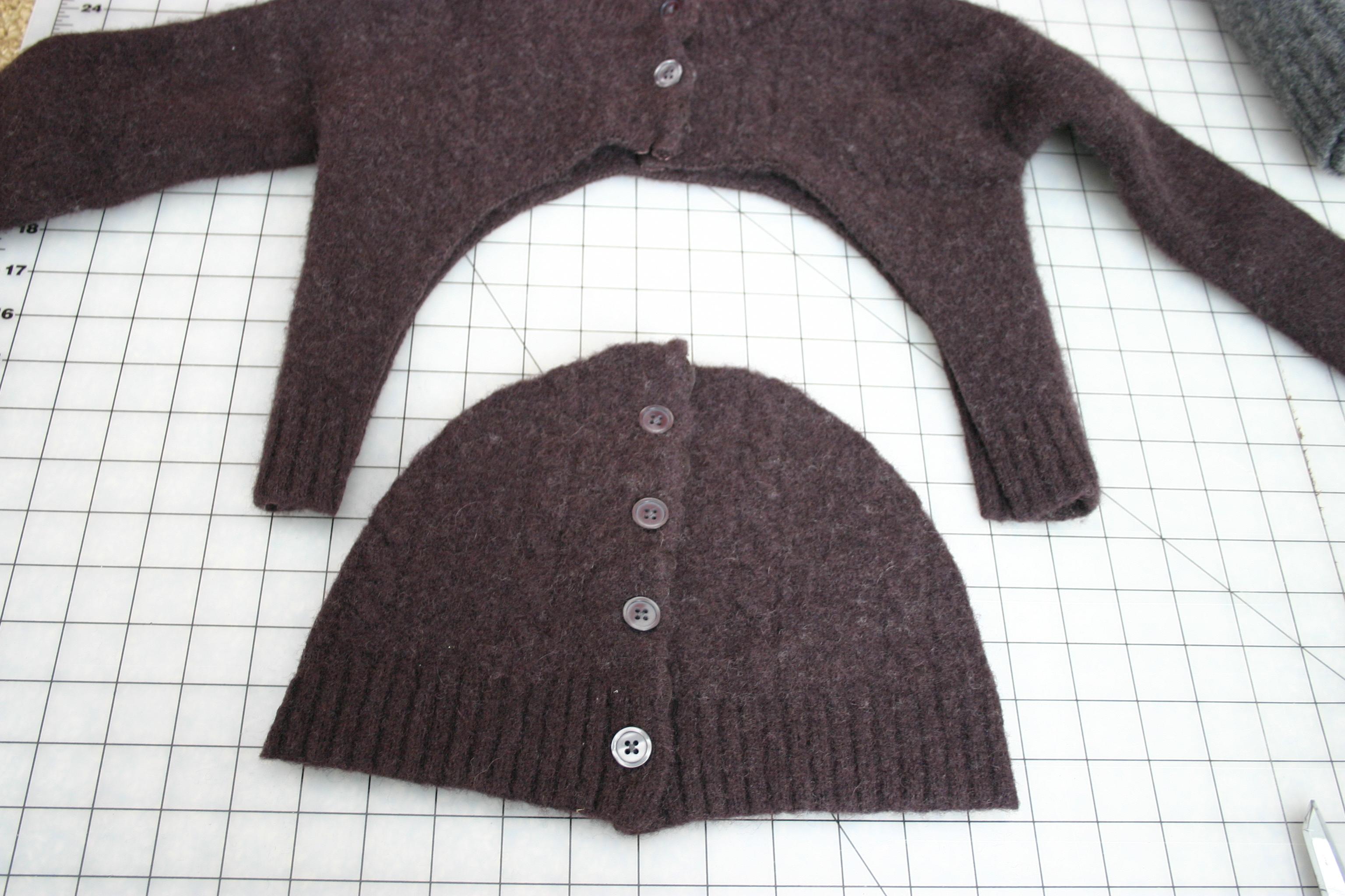 как сделать чтобы свитер сел.