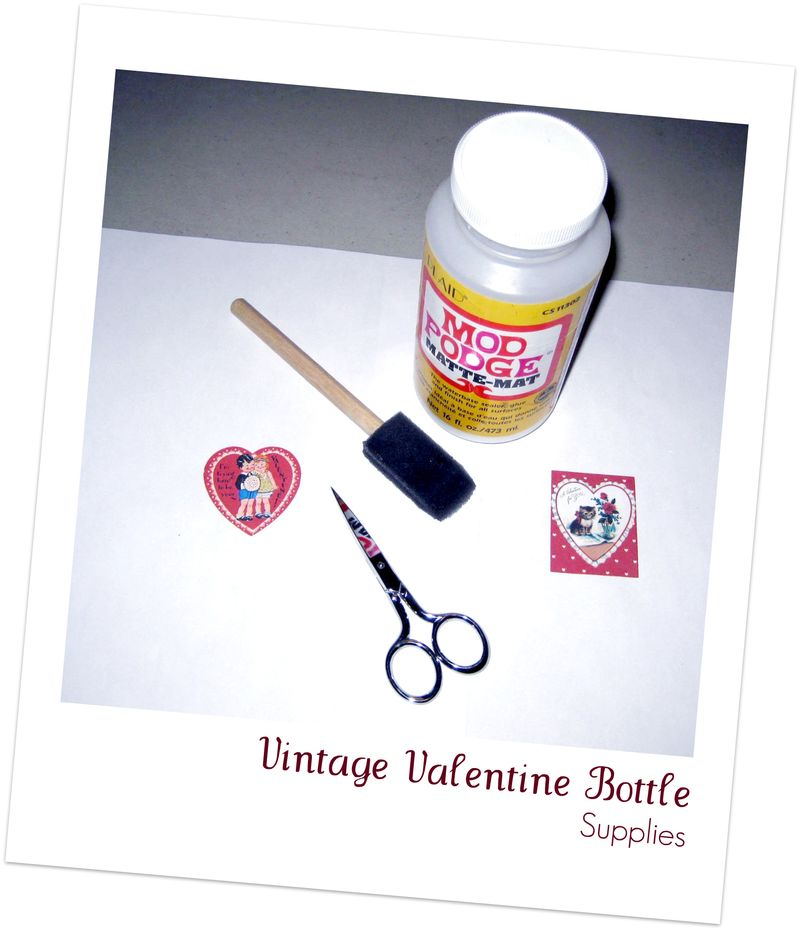 Vintage Valentine Bottle Supplies
