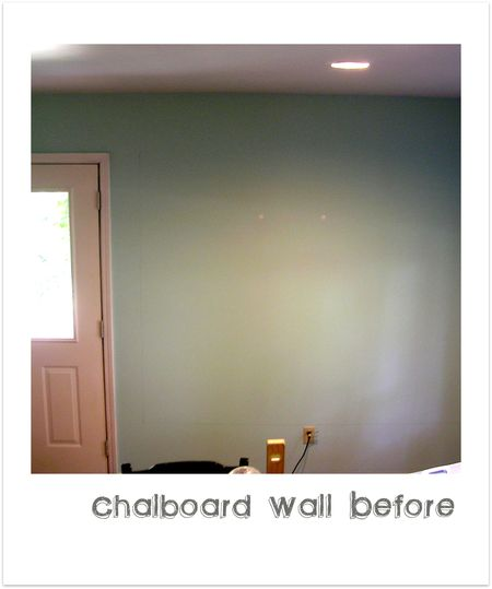 Chalboard Wall Before