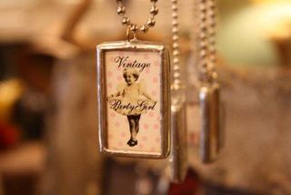 Vintage Party Girl Pendant