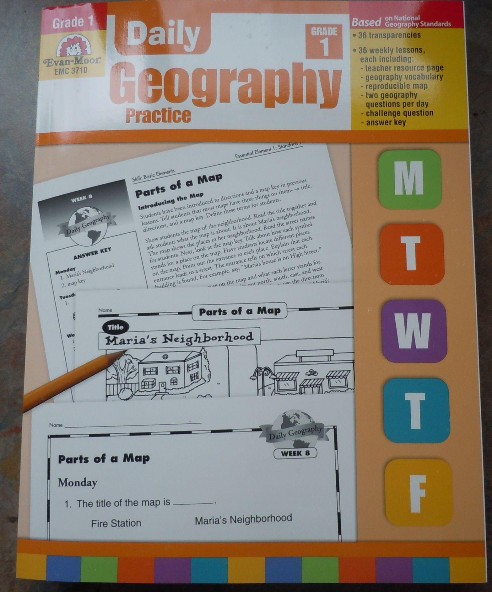 Vintage Indie: Teach Me: Product Review Evan Moor Daily Geopgraphy