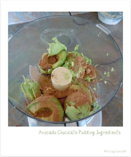 Avacado Pudding Ingredients