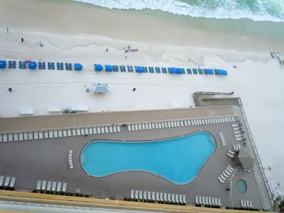 PCB Pool Zoomed in from the Balcony