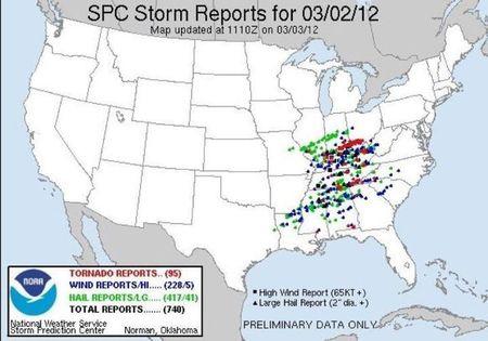 Tornados 2012