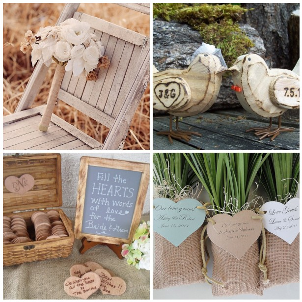 Shop handmade and small businesses for your rustic wedding accessories