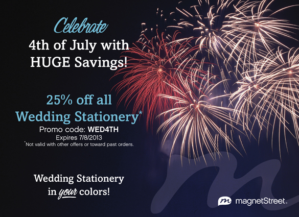 4th of july savings from MagnetStreet