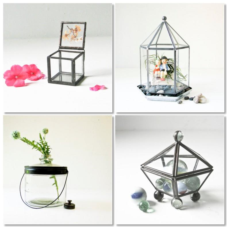 Vintage Indie The Daily Swank Vintage Glass Terrariums
