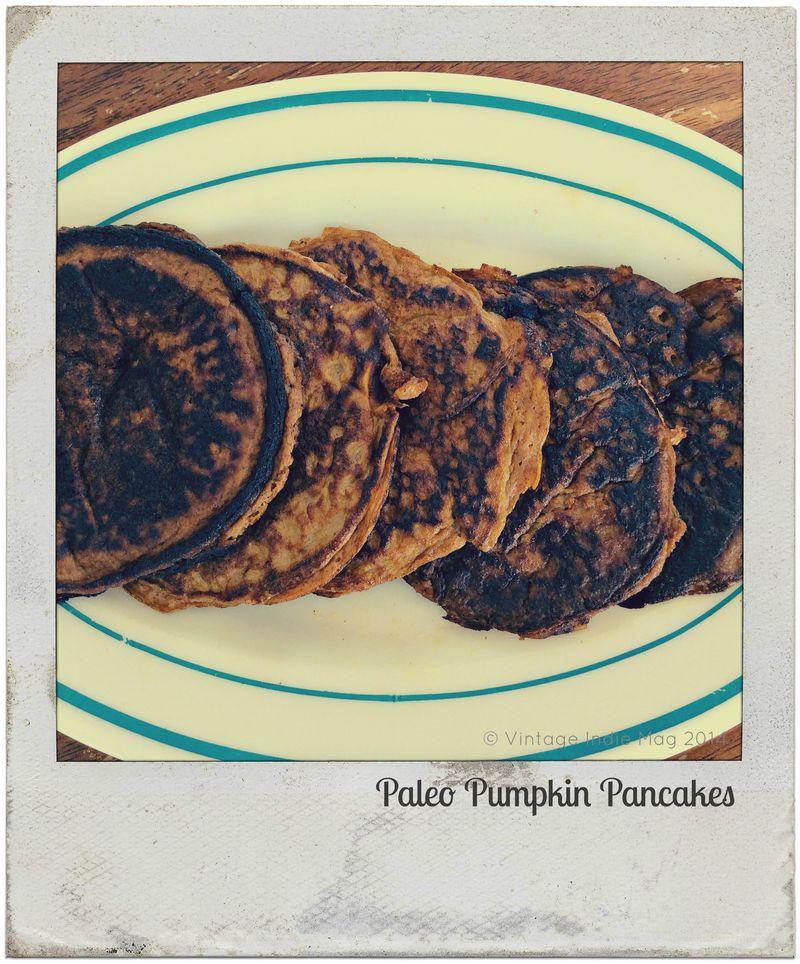 Vintage Indie Pumpking Paleo Pancakes