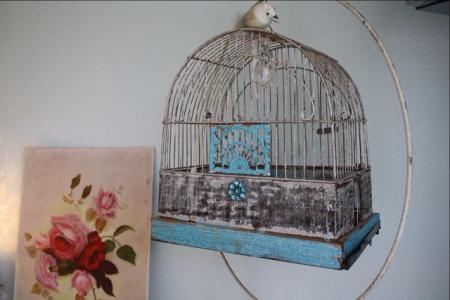 Glittered birdcage