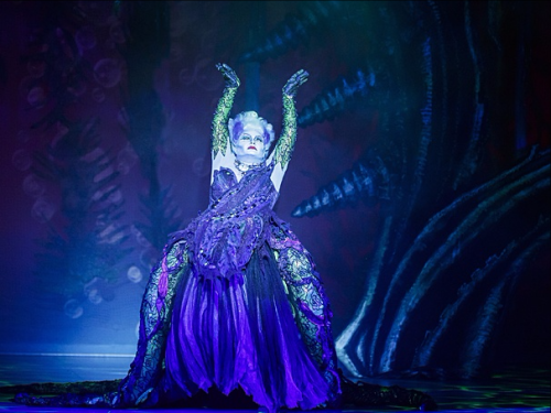 Jennifer Allen as Ursula in The 5th Avenue Theatre's production of The Little Mermaid