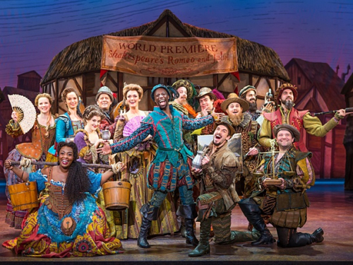 The touring company of Something Rotten!