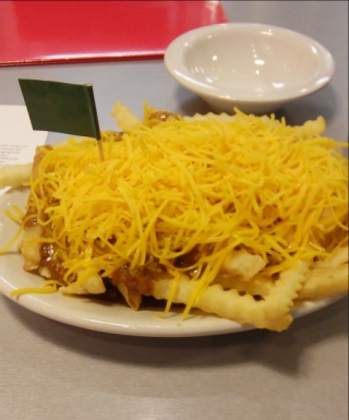 Gold Star Chili Vegetarian Chili Cheese Fries