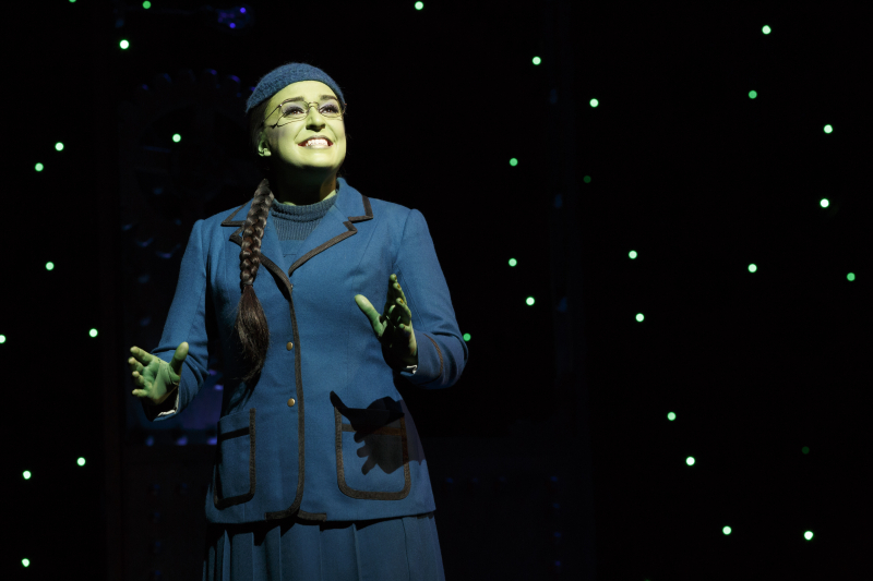 Jessica Vosk as Elphaba 3. Photo by Joan Marcus
