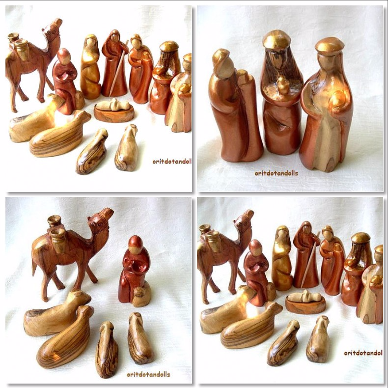 Wooden Nativity Christmas