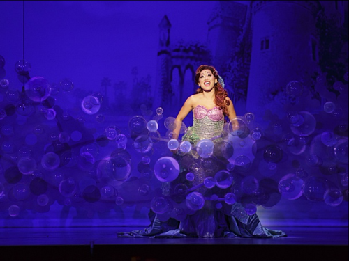 Diana Huey as Ariel in The 5th Avenue Theatre's production of The Little Mermaid