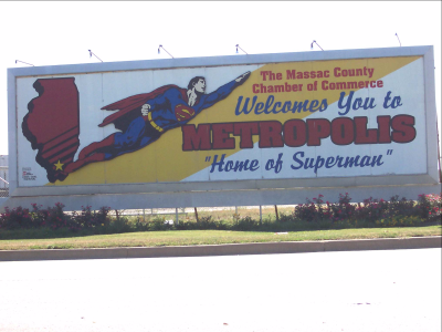 Superman billboard