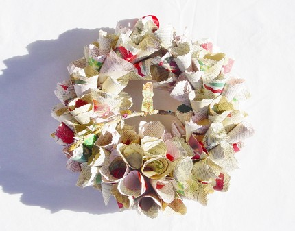 Office Decorations on Vintage Indie  Tis The Season   Holiday Decor   Wreaths