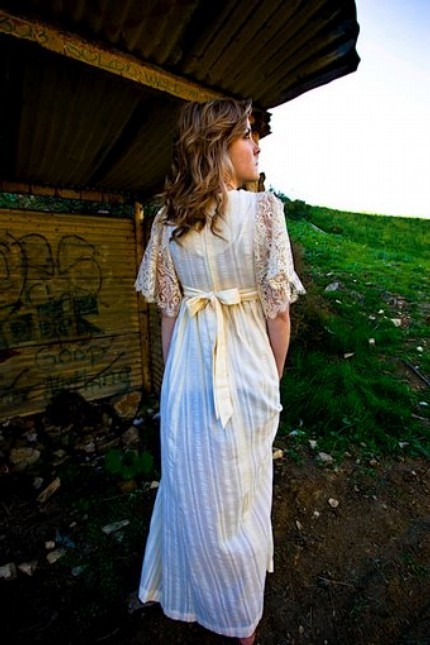 This gorgeous Long Vintage Lace dress comes from Salvage Life